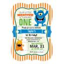 funny little monster birthday party invitations