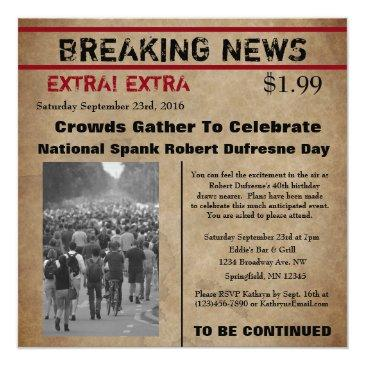 funny newspaper birthday invitations
