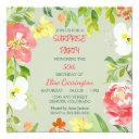 garden floral border birthday party invitation