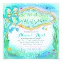gc magical twins mermaid invitation