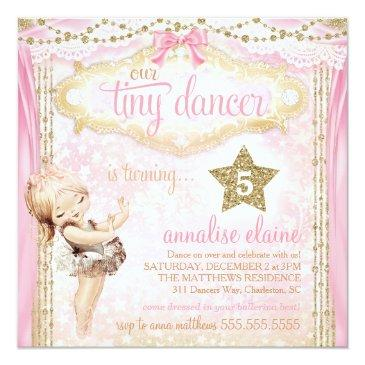 gc magical vintage tiny dancer ballerina invitations