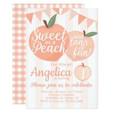 georgia peach birthday party invitation invite