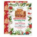 gingerbread house decorating party birthday baking invitation