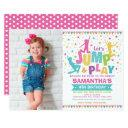 girl jump birthday / trampoline party bounce house invitation