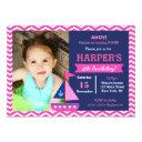 girl nautical birthday invitations