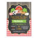 girls barnyard chalkboard birthday invitation