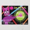 girls laser tag girl birthday party invitations