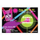 girls laser tag girl birthday party invitations