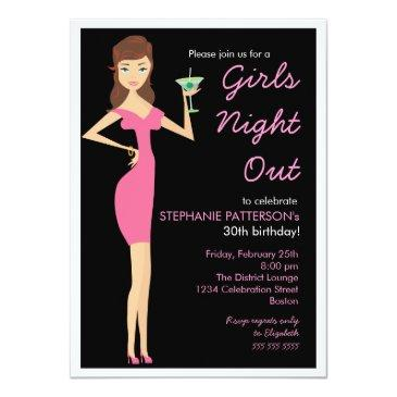 girls night out cocktail diva birthday party invitation