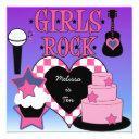 girls rock birthday invitations