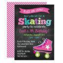 girls roller skating birthday party - chalkboard invitation