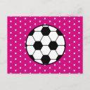girl's soccer birthday postinvitations invitation - pink