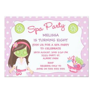 girls spa party birthday party invitations
