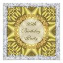 glamorous gold & silver 95th birthday party invitation