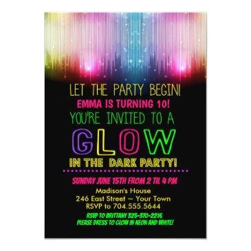 glow in the dark birthday invitations