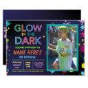 glow in the dark birthday neon paint party photo invitation