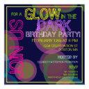 glow in the dark birthday party invitations