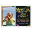 glow in the dark children's birthday invitations