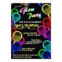 glowing balloons glow party invitations