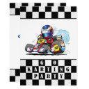 go karting party invitation