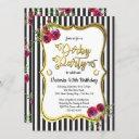 gold derby themed birthday invitations