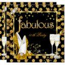 gold faux foil polka dots fabulous high heel party invitations