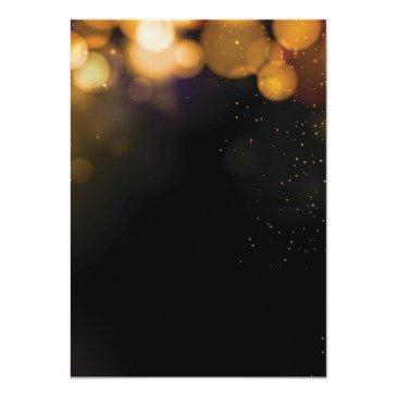Small Gold Glitter 21st Birthday Invitation Back View