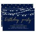 gold & navy | modern adult 50th birthday party invitation
