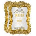 golden tiara princess sweet 16 gold white invite