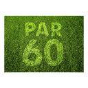 golf 60th birthday party invitation