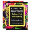 graffiti abstract letters birthday invitation