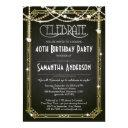 great gatsby birthday invitations / art deco invite