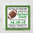 green grass football birthday invitation