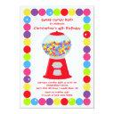 gumballs candy bash birthday party invitation