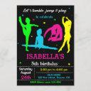 gymnastics birthday invitation flip jump invite