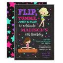 gymnastics birthday invitation / girl / chalkboard