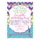 gymnastics birthday party invitation