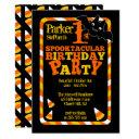 halloween 1st spooktacular birthday party invitations