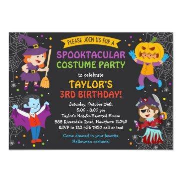 halloween birthday invitation, costume party, kids