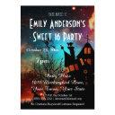 halloween haunted house costume sweet 16 birthday invitations