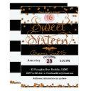 halloween sweet 16 birthday party black white pink invitations