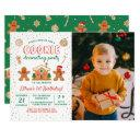 holiday cookie decorating party birthday photo invitation