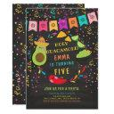 holy guacamole fiesta birthday invitation