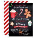 hot cocoa and cookies birthday invitation