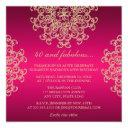 hot pink and gold indian inspired birthday invitations