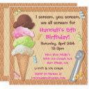 ice cream party invitations celebration