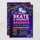 ice skating birthday party invitation for girls