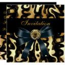 invitation all occasion black gold africa abstract