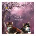 invitations party kittens cats enchanted