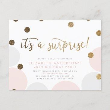 it's a surprise!   bubble surprise birthday party invitation postinvitations